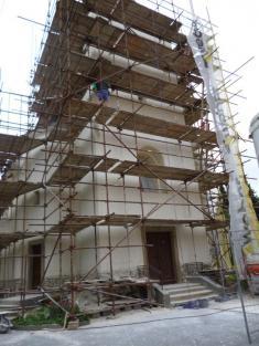 Oprava kostela - léto 2016