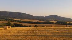 Pohled zobce naHostýnské vrchy - léto 2013