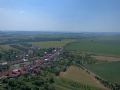 Letecký pohled dron