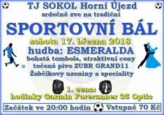 Sportovní bál - březen 2018 - TJ Sokol Horní Újezd